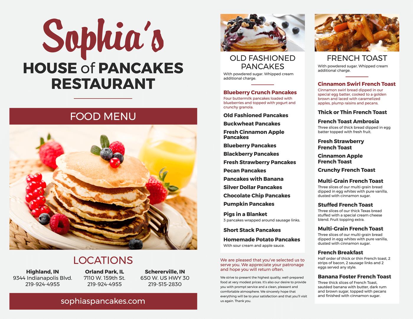 Sophia S House Of Pancakes Restaurant